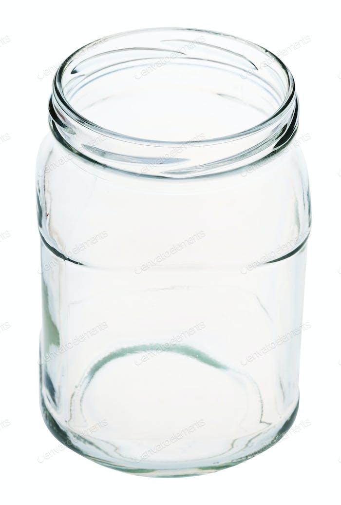 viktorianisches quadratisches Glas isoliert auf weiß