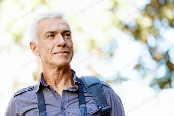 Handsome mature man outdoors
