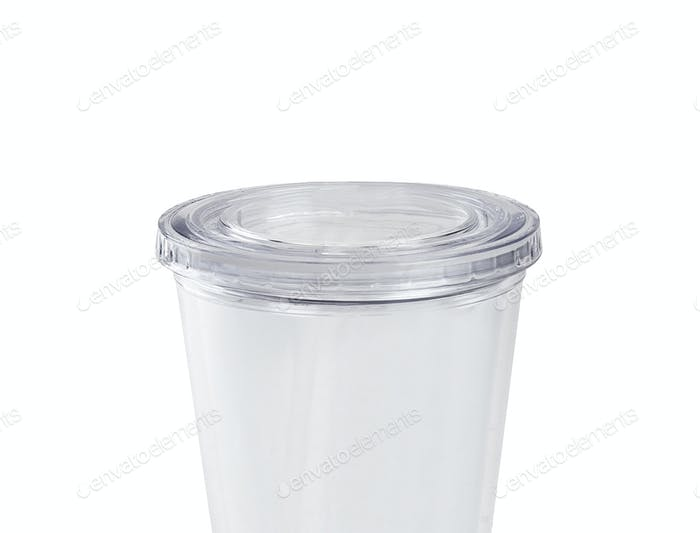 plastic cup isolated