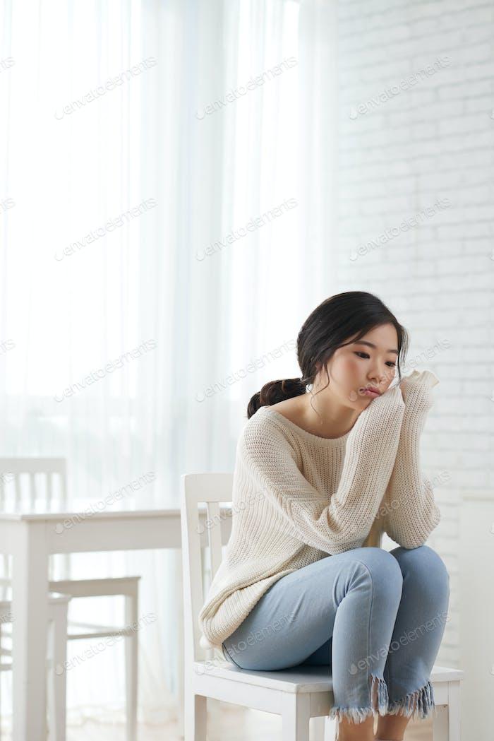 Contemplating girl