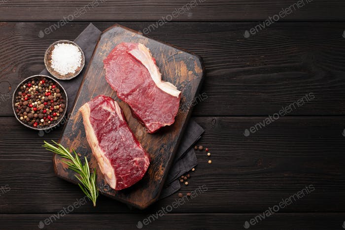 Rohes Rindfleisch Steak