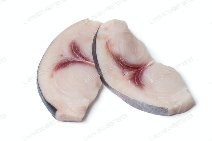 Two raw fresh swordfish fillets