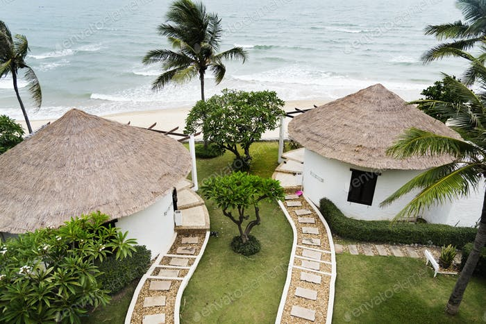 Bungalows at a luxury resort