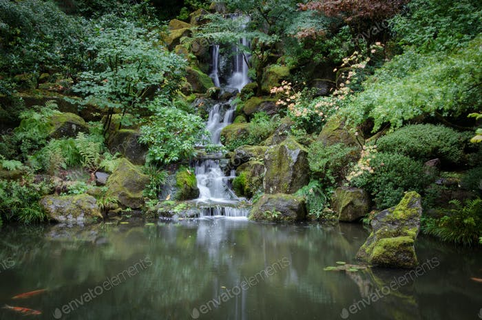 Japanese Water Garden Waterfall