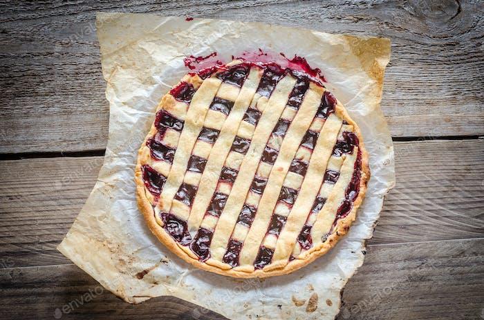 Open cherry pie