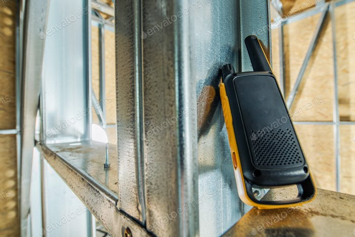 Comunicación de walkie talkie