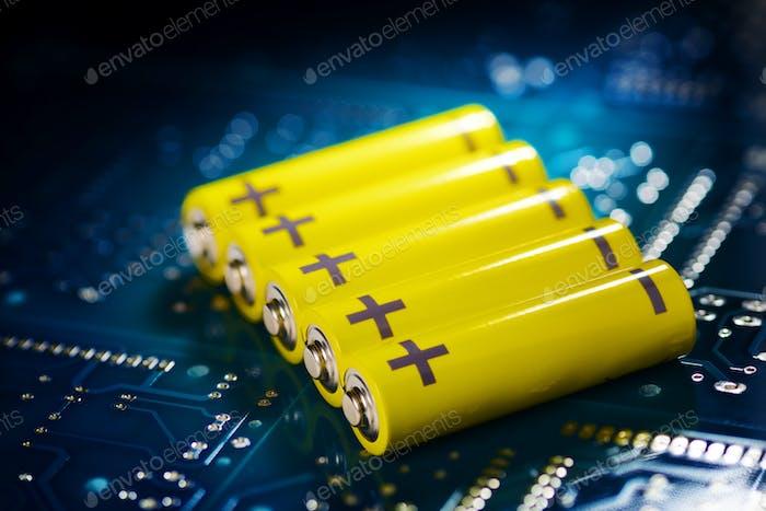 Gelbe Mignon Batterie
