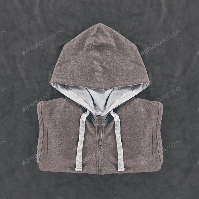 Neatly folded men's hoodies