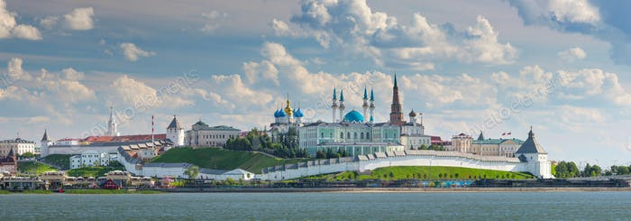 The Kazan Kremlin on the Banks of the River Kazanka, Russia