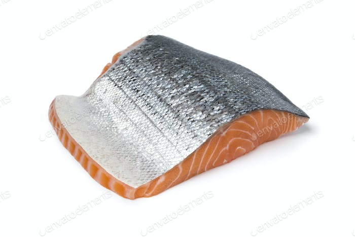 Piece of fresh salmon fillet