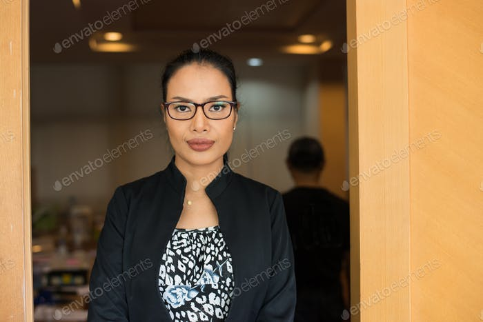 Businesswoman at office.