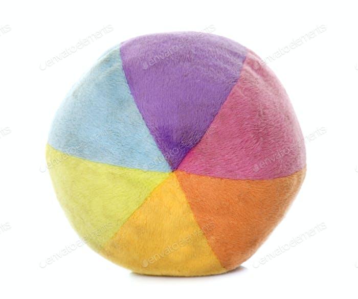 colorful ball in studio