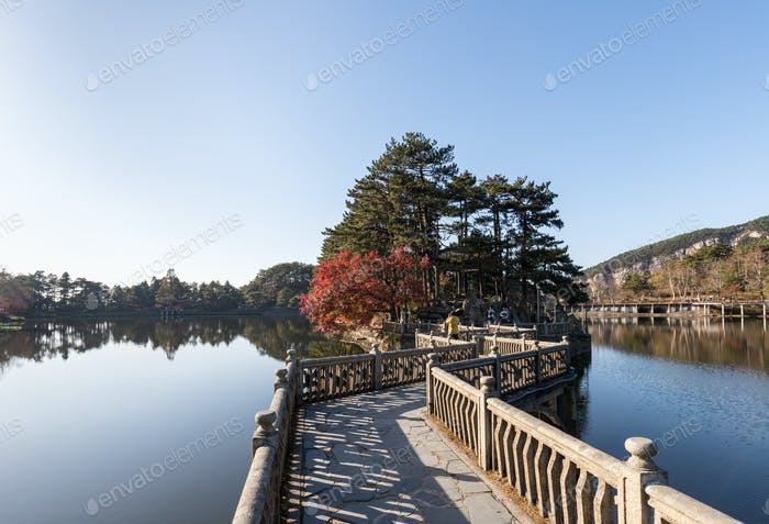 Mount Lu Landschaft im Herbst