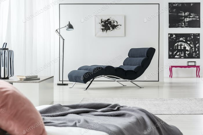 Chaise lounge and bed