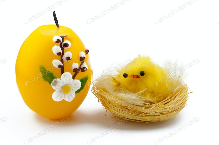 Chick with Candle