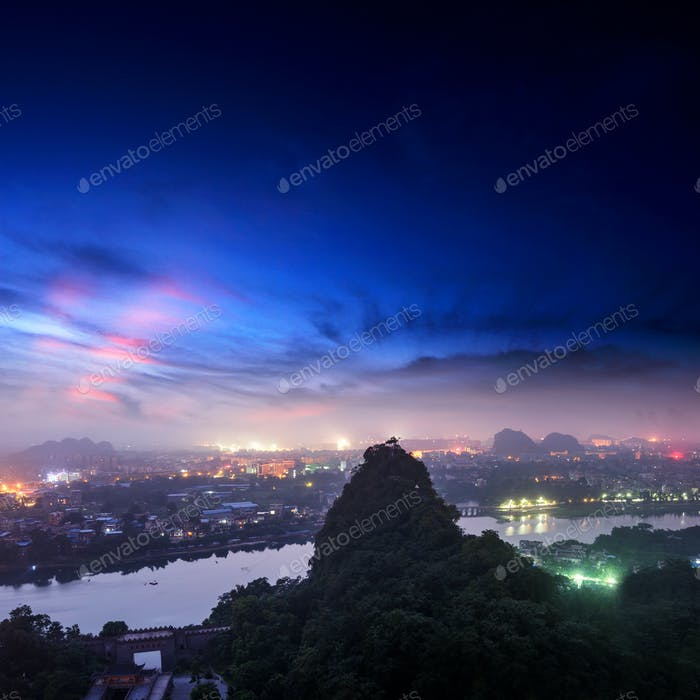 beautiful landscape in Guilin