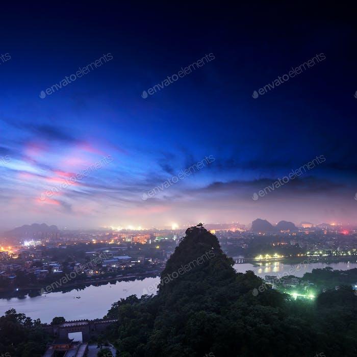 schöne Landschaft in Guilin