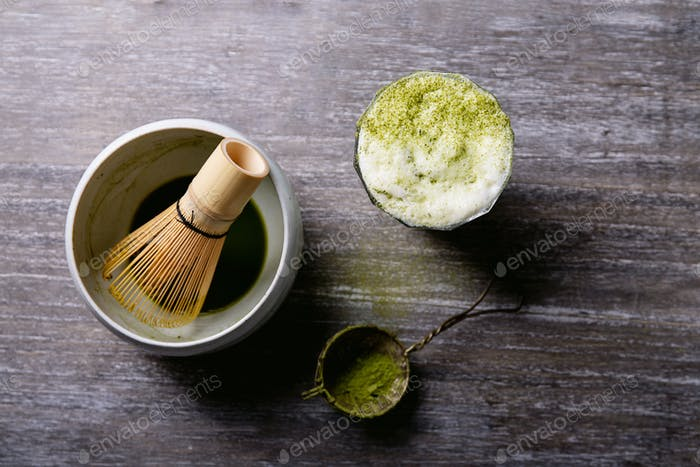 Peparation of Matcha tea