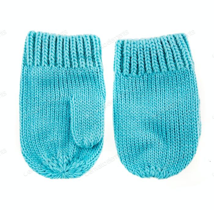 Baby woolen mittens