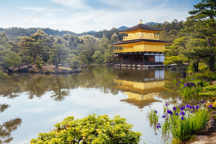 Kinkakuji Temple (The Golden Pavilion) in Kyoto, Japan