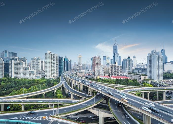Stadtumbruch in Shanghai