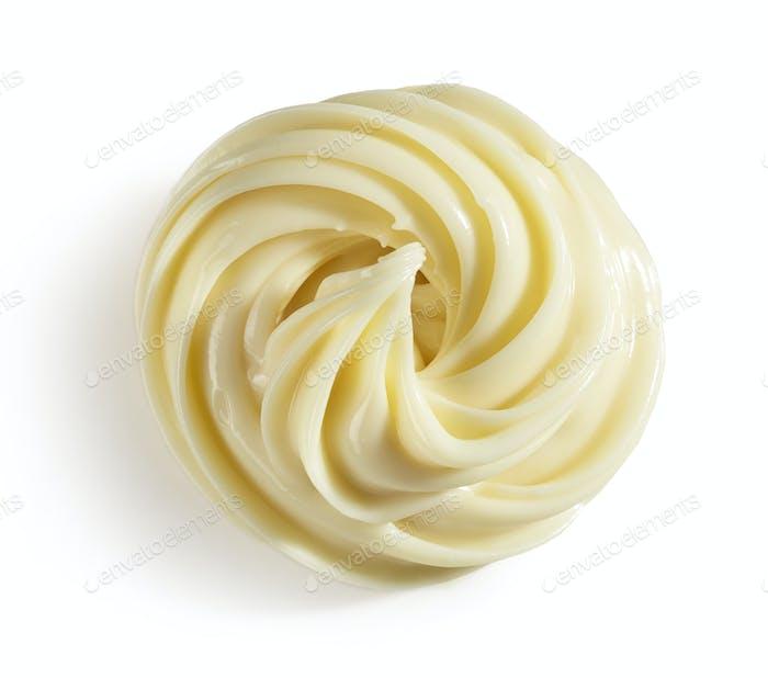 melted white chocolate swirl