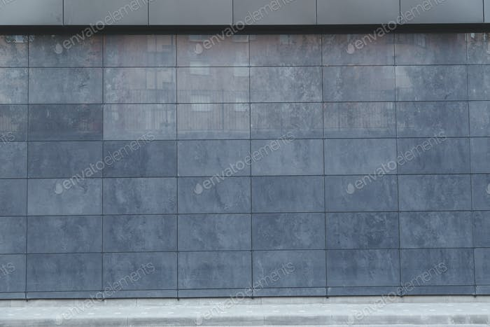 Metal wall tiles, detail facade, modern constrution