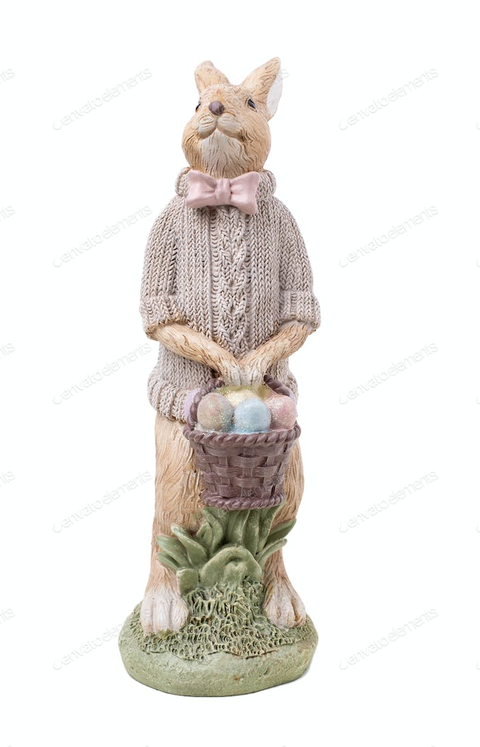 Beautiful handmade easter rabbit.