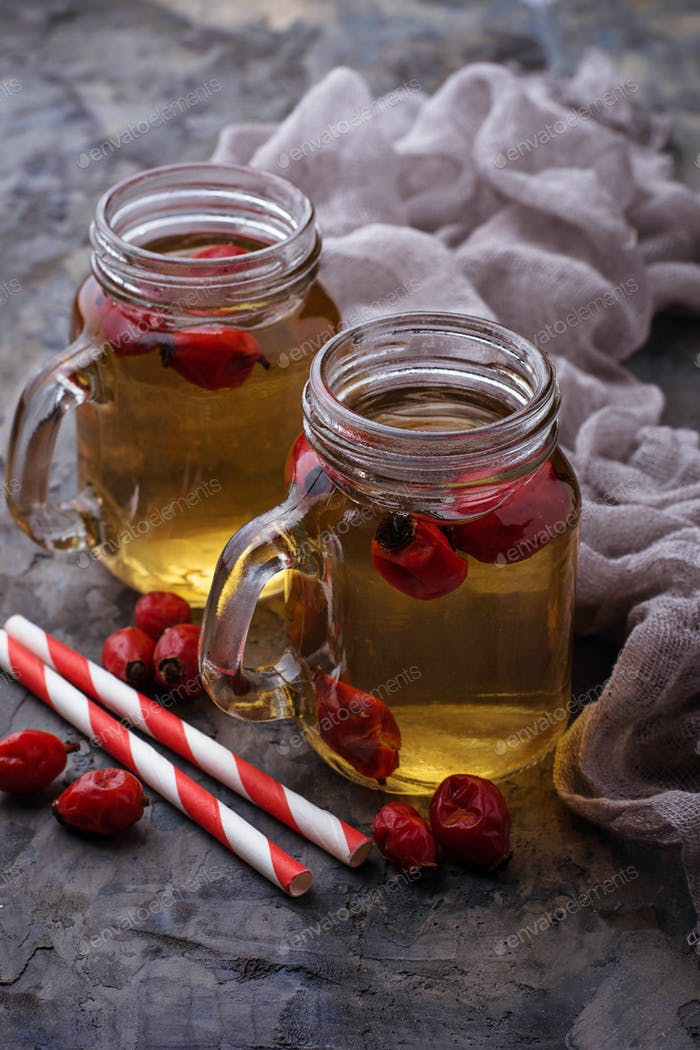 Herbal tea with rosehip