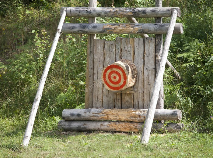 Outdoor Wooden Bulls-eye
