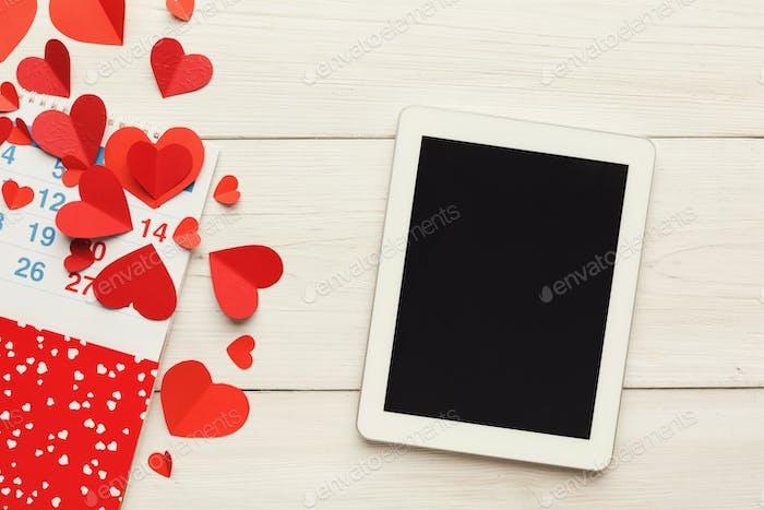 Valentine day online, emailing background