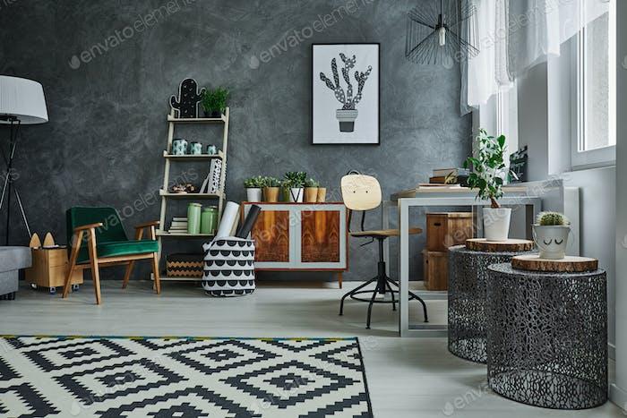 Wohnung mit Designermöbeln