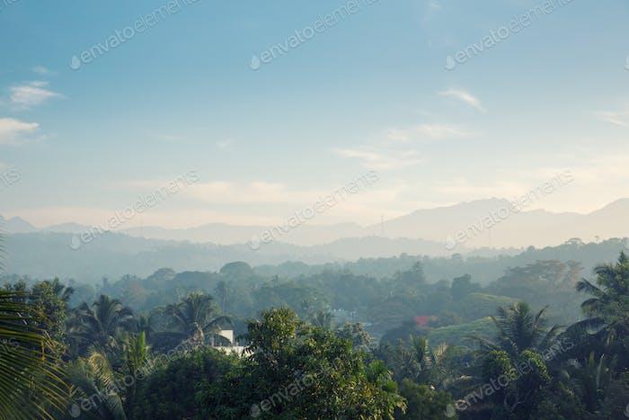 Scenic green mountains anb jungles, Ceylon
