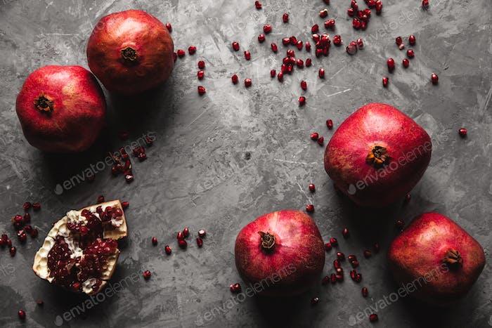 Granatapfelfrucht. Reifer und saftiger Granatapfel