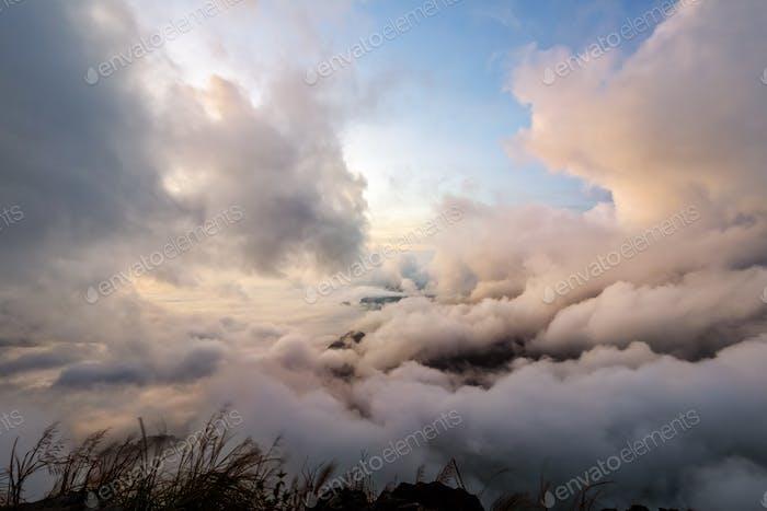 Sky scape in sunrise on mountain