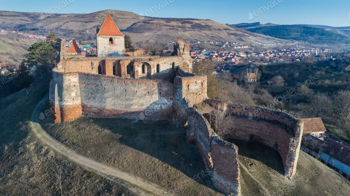 The Slimnic fortress. Transylvania, Romania