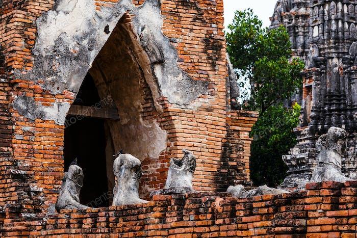 Historical architecture in Ayutthaya, Thailand