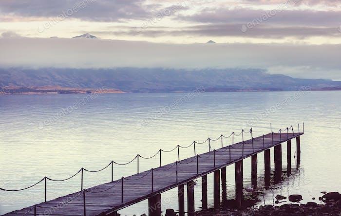 Ocean coast in Chile