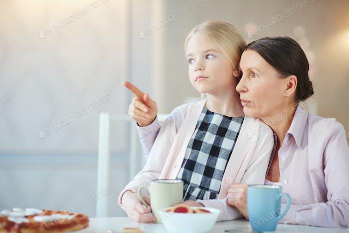 Talking to granddaughter