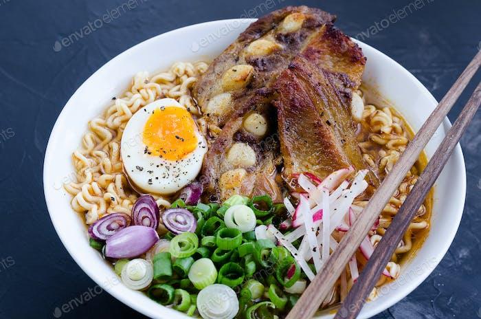 Japanese ramen noodle soup