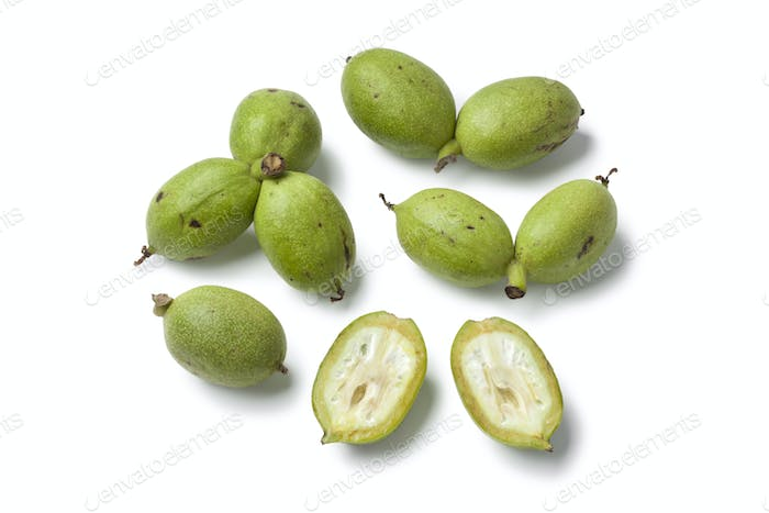 Fresh green walnuts