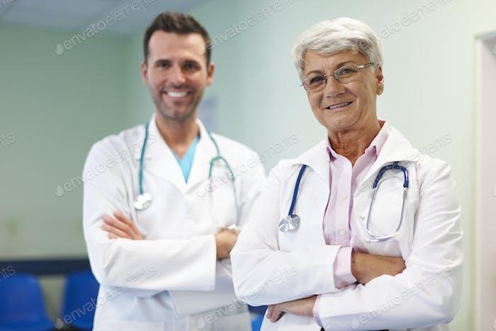 Porträt des medizinischen Personals im Krankenhaus