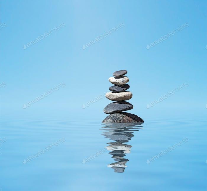 Zen ausgewogene Steine Stapel