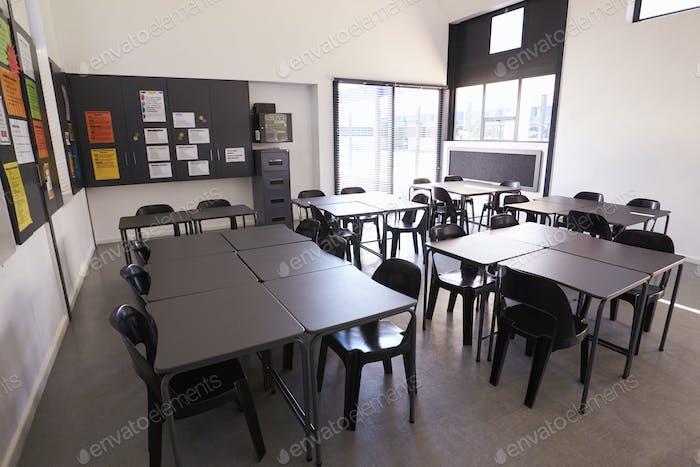 Modern science classroom in an elementary school