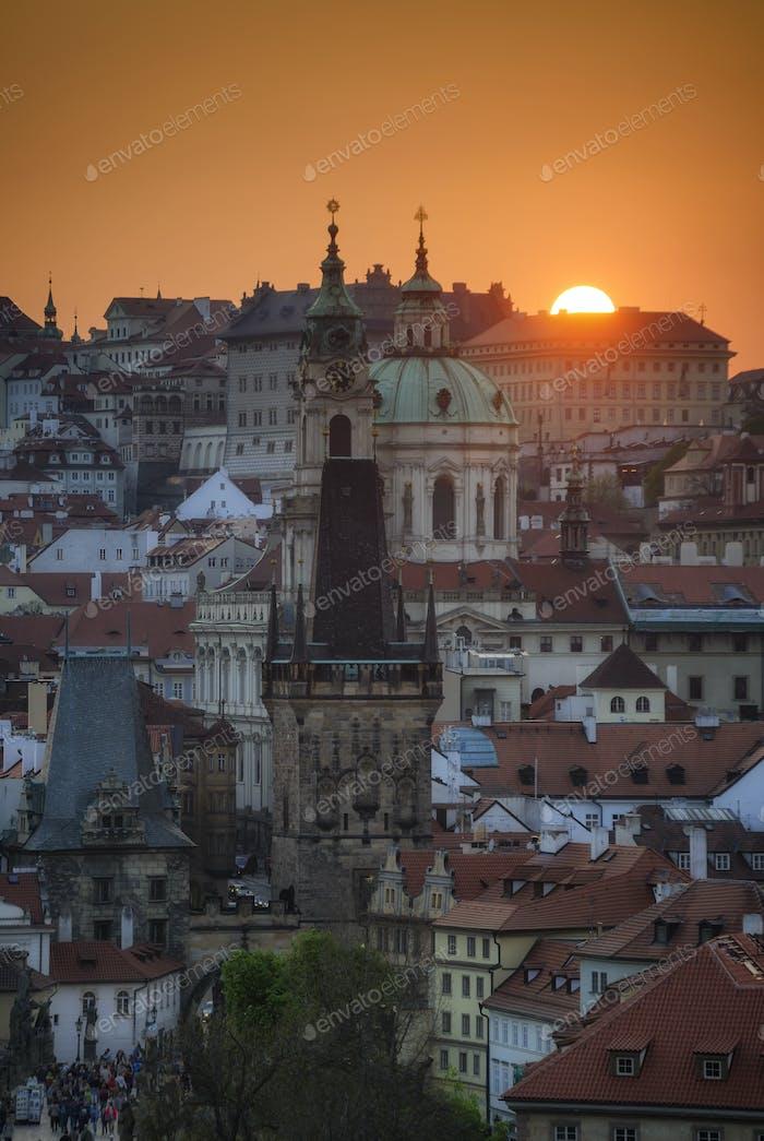 Turm der Kirche St. Nicolas, Prag, Tschechische Republik