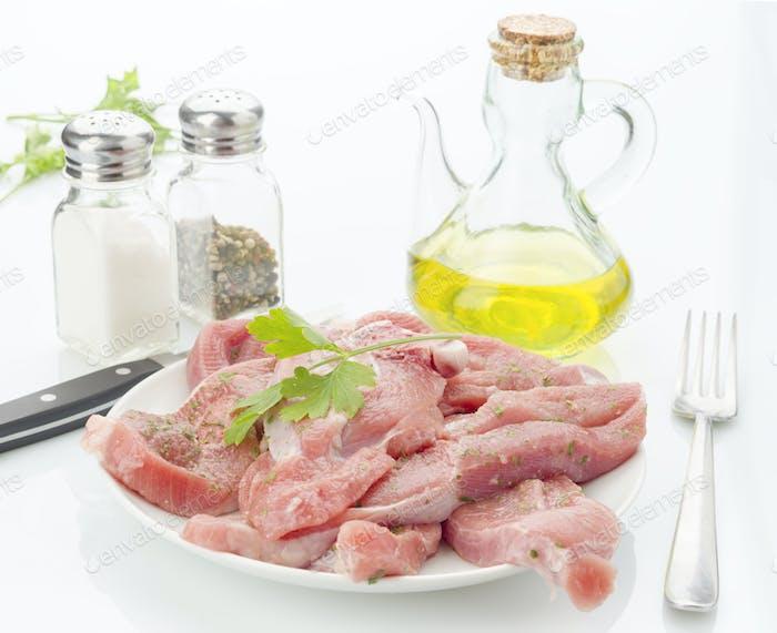steaks raw