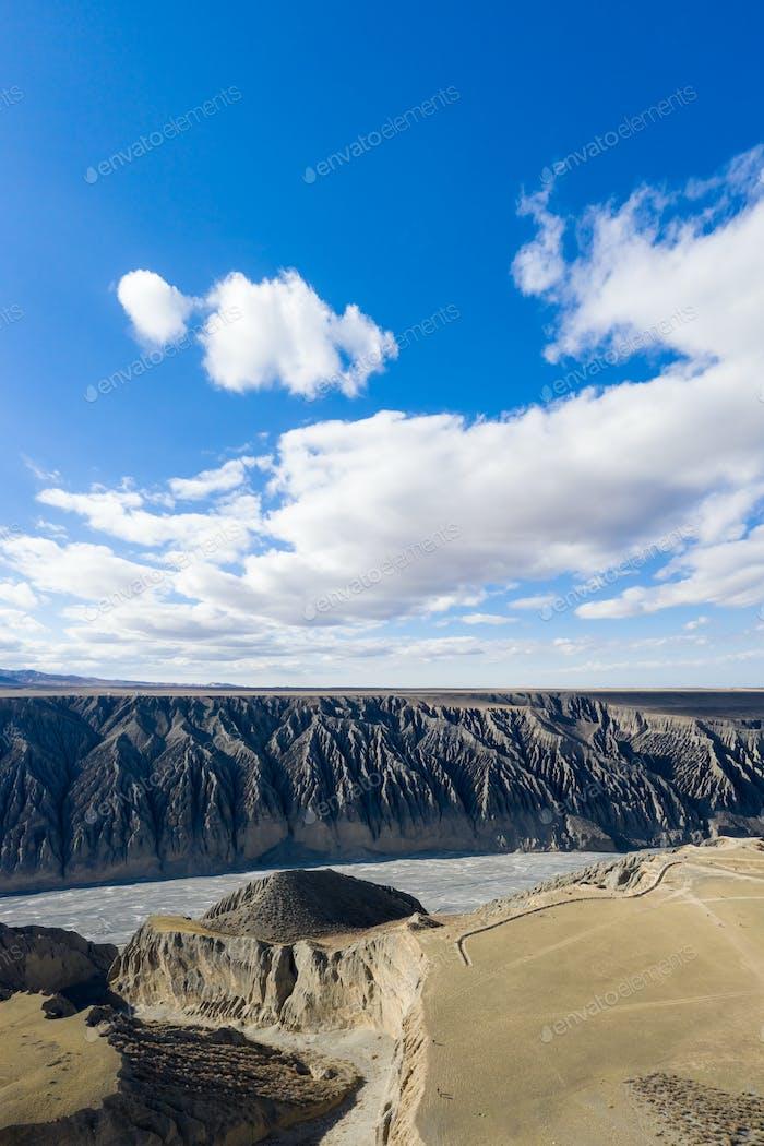 xinjiang landscape of beautiful kuitun grand canyon
