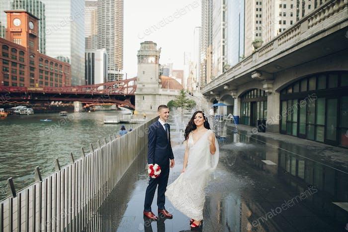 Wedding in a city