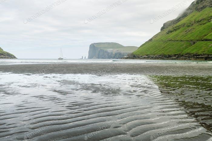 Tjornuvik beach on Streymoy island