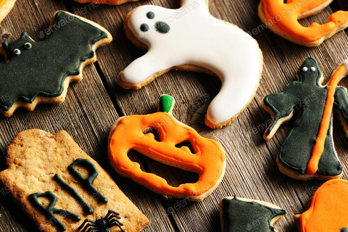 Thumbnail for Halloween homemade gingerbread cookies